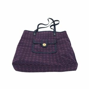 Tommy Hilfiger purple TH tote gold details
